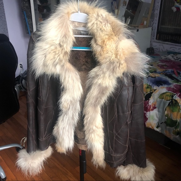 Sinequanone Jackets & Blazers - Real Fur/Leather Sinequanone Coat Size 4 (FR 38)